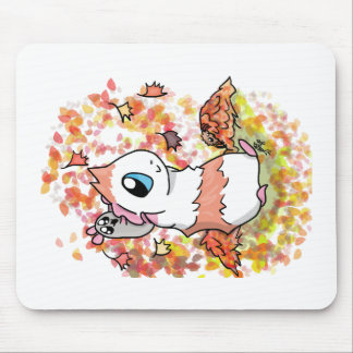 Ham and Piggy autumn Mouse Pad