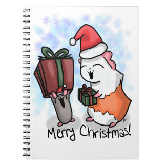 Ham and Piggy Christmas Spiral Notebook