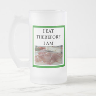 HAM FROSTED GLASS BEER MUG