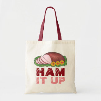 HAM IT UP Funny Christmas Holiday Foodie Tote