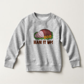 HAM IT UP Funny Holiday Ugly Christmas Sweater