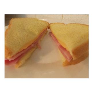 Ham n cheese sandwich CARD Postcard