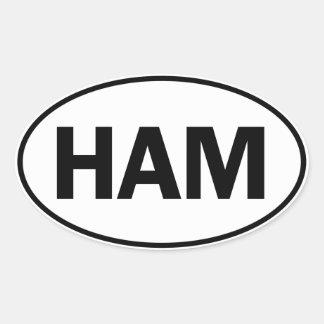 HAM Oval Identity Sign Oval Sticker