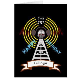 Ham Radio Biker Style Birthday Card  Customize It!