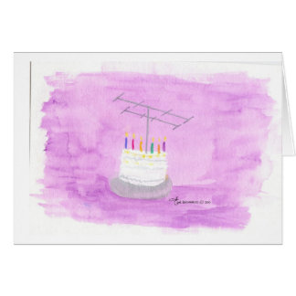 Ham Radio Birthday Cake Card