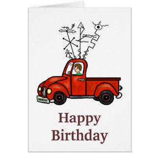 Ham Radio Mobile Rig Truck Birthday Card