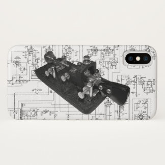 Ham Radio Morse Code Semi-Automatic Key iPhone X Case