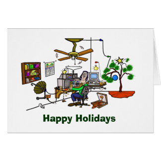 Ham Radio Whacky Shack Christmas Card