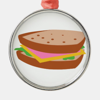 HAM SANDWICH METAL ORNAMENT