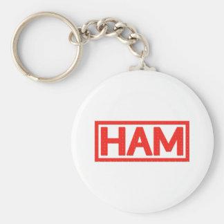 Ham Stamp Basic Round Button Key Ring