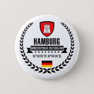 Hamburg 6 Cm Round Badge