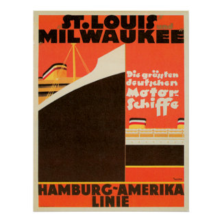 Hamburg-America Linie ~ Poster