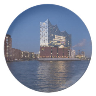 Hamburg as melamine plates