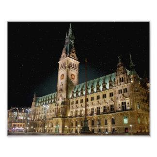 Hamburg city hall photo print
