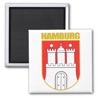 Hamburg COA Square Magnet