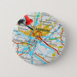 Hamburg, Germany 6 Cm Round Badge