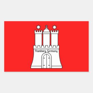 Hamburg, Germany flag Rectangular Sticker