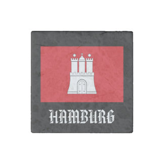 Hamburg, Germany Marble Stone Magnet