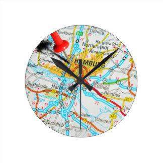 Hamburg, Germany Round Clock