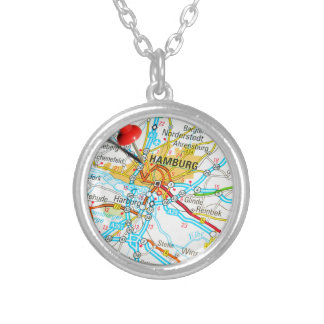 Hamburg, Germany Silver Plated Necklace