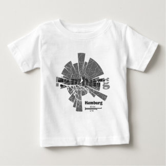Hamburg Map Baby T-Shirt