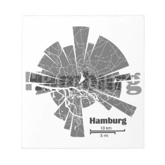 Hamburg Map Notepad