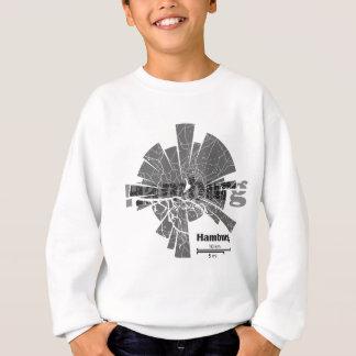 Hamburg Map Sweatshirt