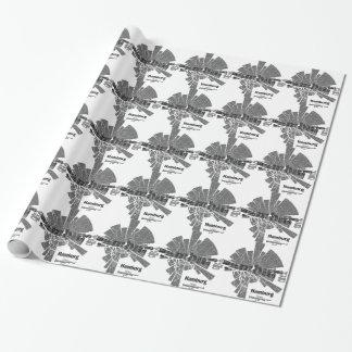 Hamburg Map Wrapping Paper