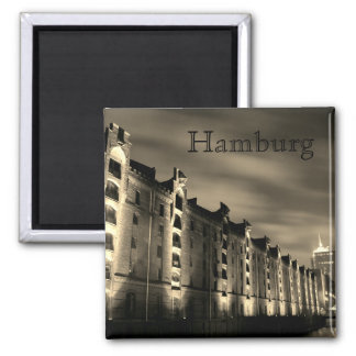 Hamburg - memory city at night - magnet