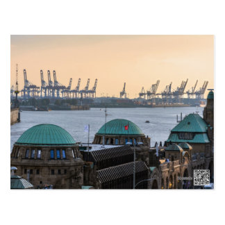 Hamburg port postcard