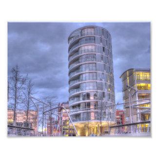 Hamburg port town center photographic print