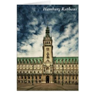 Hamburg Rathaus, Germany Card