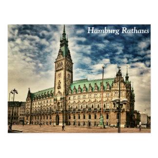 Hamburg Rathaus, Germany Postcard