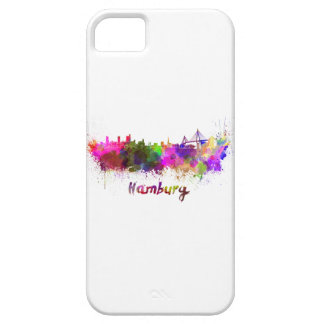 Hamburg skyline in watercolor barely there iPhone 5 case