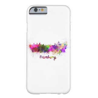 Hamburg skyline in watercolor barely there iPhone 6 case
