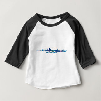 Hamburg Skyline Silhouette Baby T-Shirt