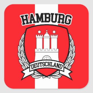 Hamburg Square Sticker