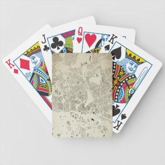 Hamburg Streets and Buildings Map Antic Vintage Bicycle Playing Cards