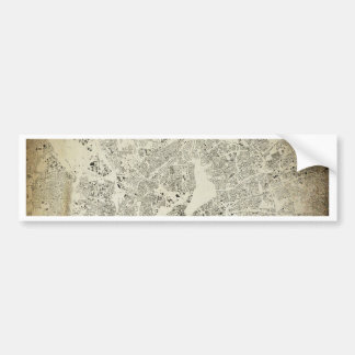 Hamburg Streets and Buildings Map Antic Vintage Bumper Sticker