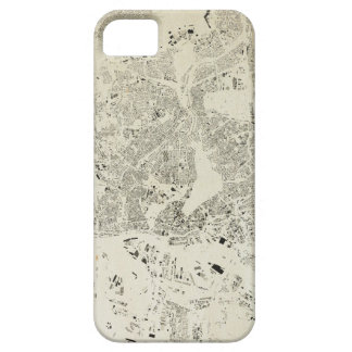 Hamburg Streets and Buildings Map Antic Vintage Case For The iPhone 5