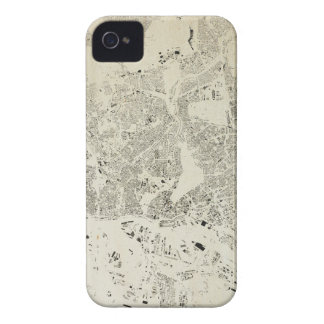Hamburg Streets and Buildings Map Antic Vintage Case-Mate iPhone 4 Case