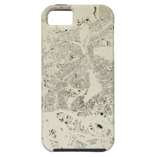 Hamburg Streets and Buildings Map Antic Vintage Tough iPhone 5 Case
