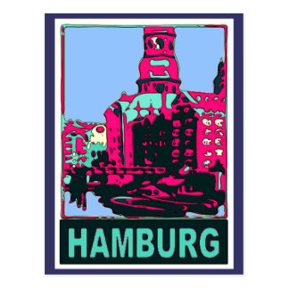 Hamburg Travel Poster Postcard