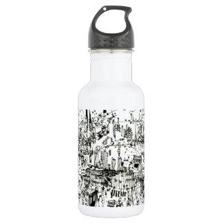 hamburger 532 ml water bottle