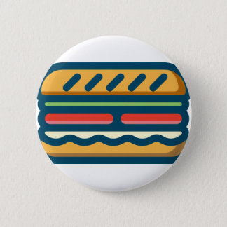 Hamburger 6 Cm Round Badge