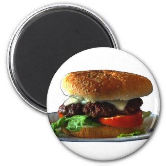 hamburger 6 cm round magnet