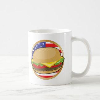 Hamburger American Flag Basic White Mug