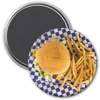 Hamburger and Fries Basket Refrigerator Magnet