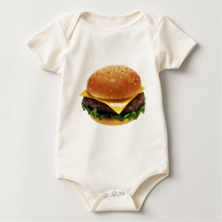 hamburger baby bodysuit
