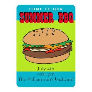Hamburger BBQ invitation